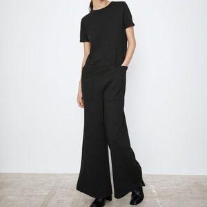 Zara NWT short sleeve long jumpsuit